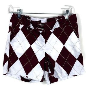 Loudmouth Maroon Checkered Golf Shorts Size 2